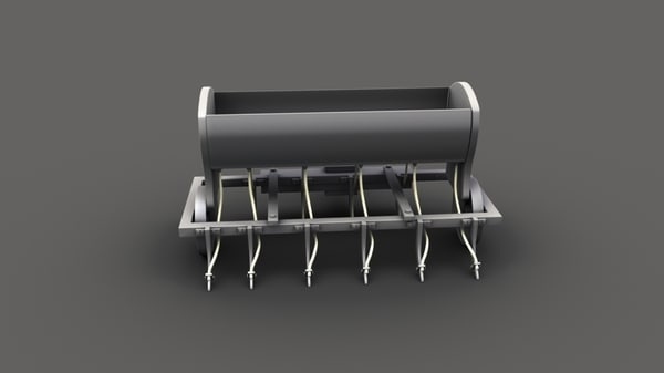 3D planting seeds drill model