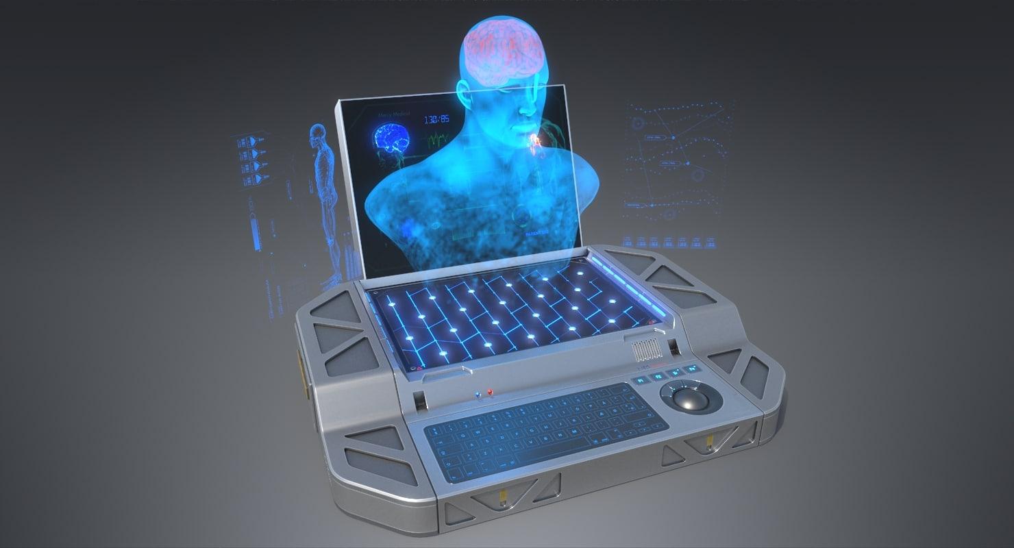 3D sci-fi hologram