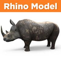 3D realistic rhino model
