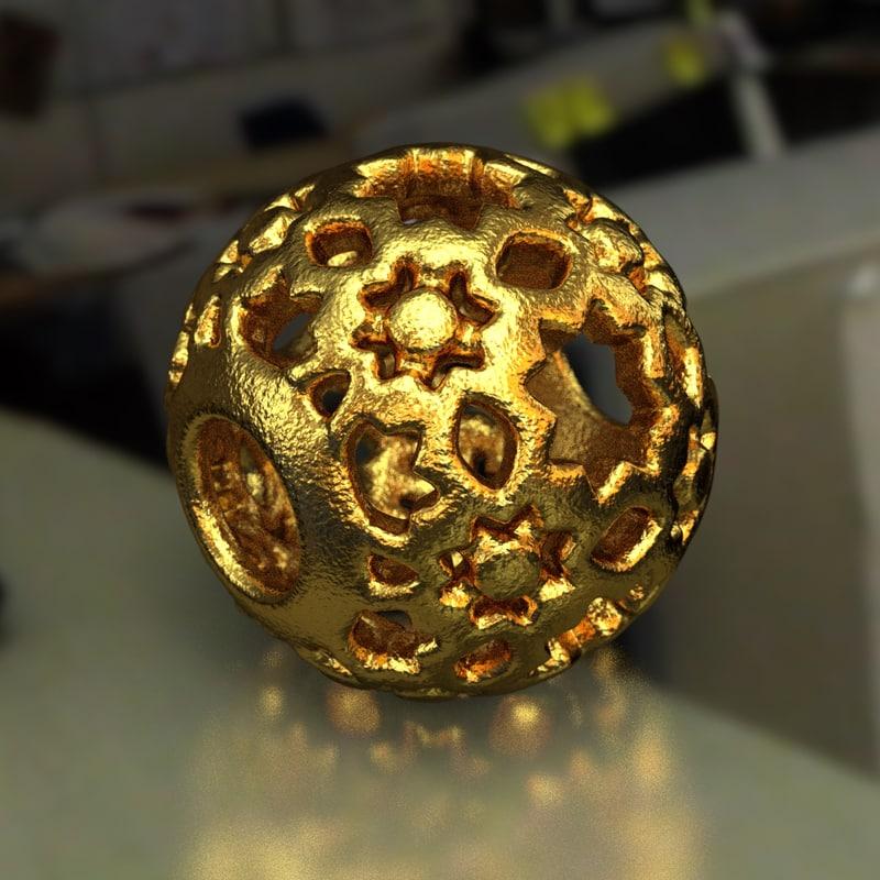 jewelry charm pa 3D model