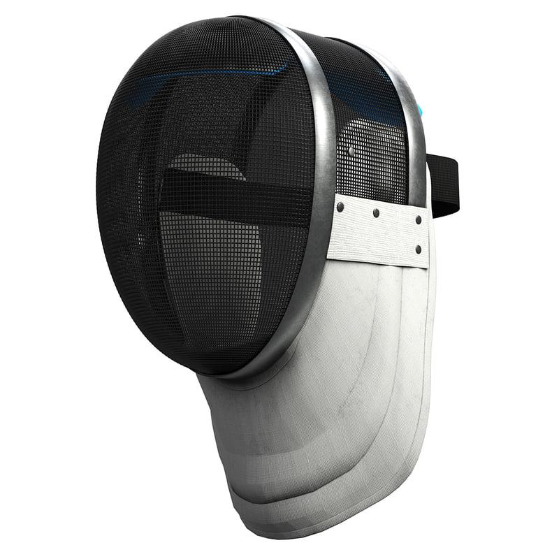 3D fencing helmet model