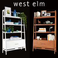 West Elm Mid-Century Bookshelf Tall Wide