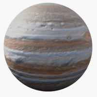 3D photorealistic jupiter model