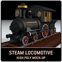 3D modell steam train mock-up