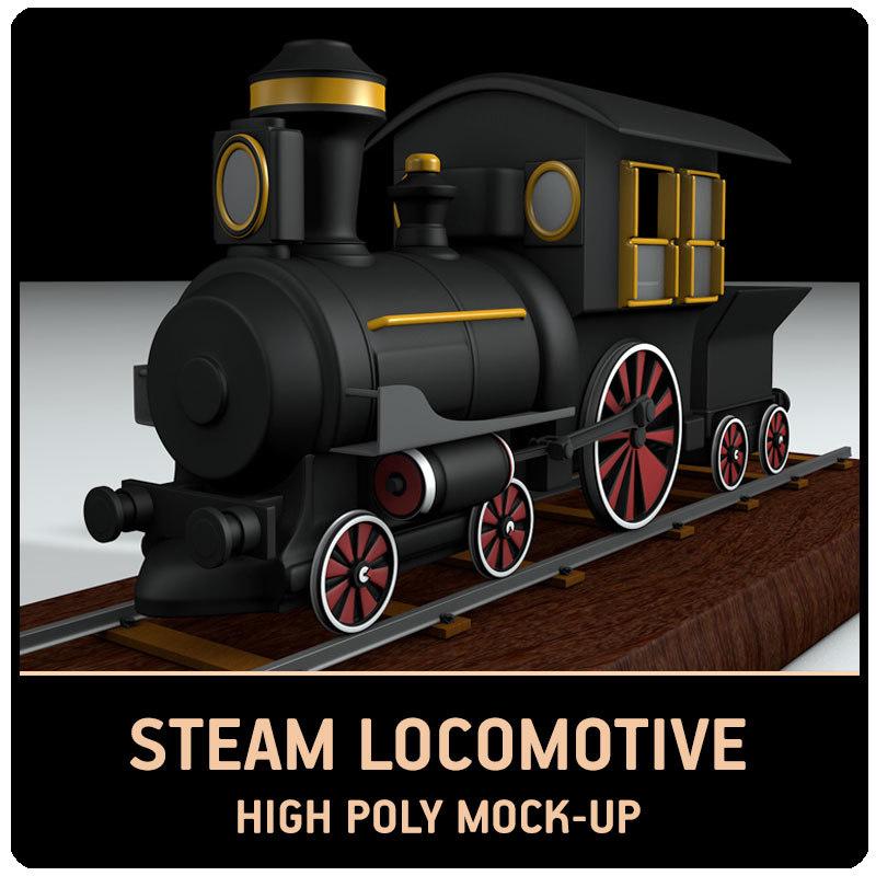 3D modell steam train mock-up
