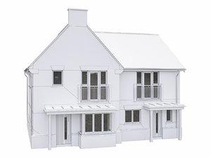 3D model neighborhood house