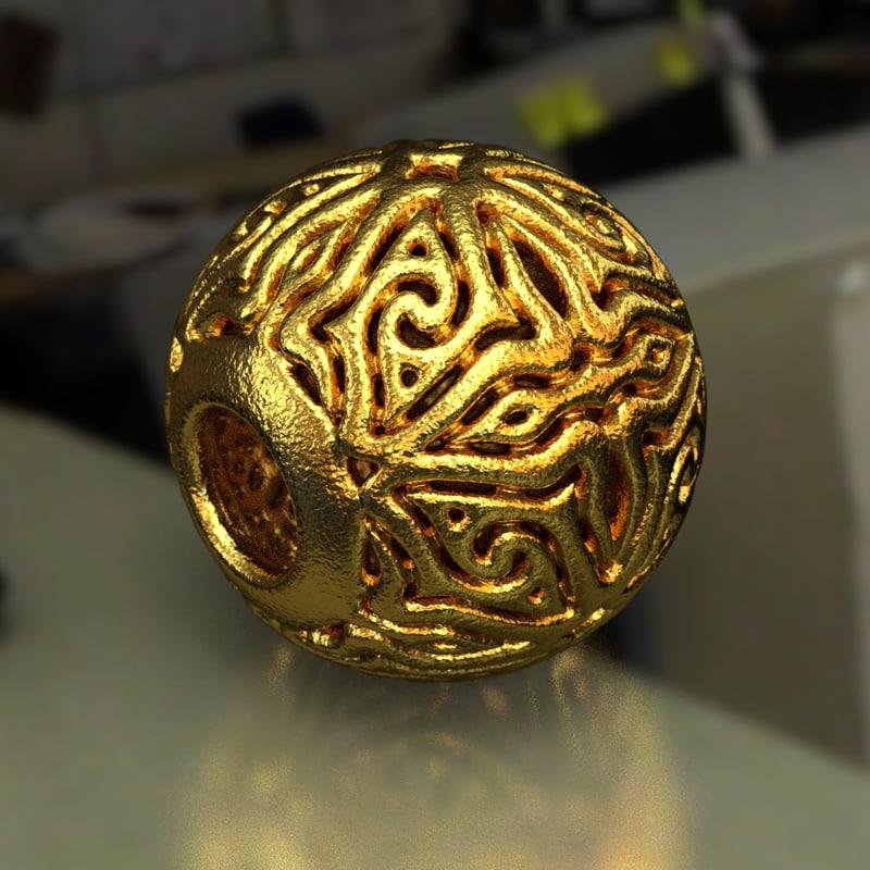 3D jewelry charm pa model