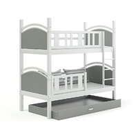 white grey bunk bed 3D model