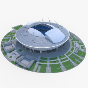 3D stadium zenit arena saint-peterburg