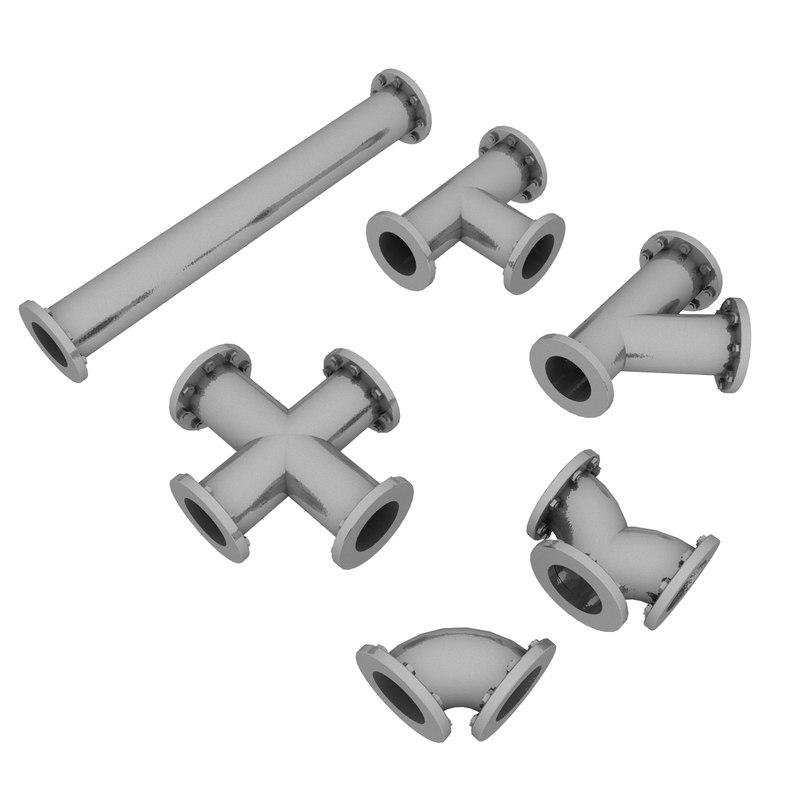 3D model pipe set