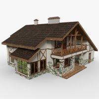 alpine chalet 3D model