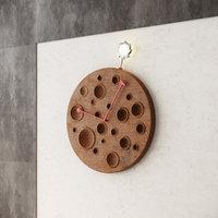 modern wooden watch wood 3D