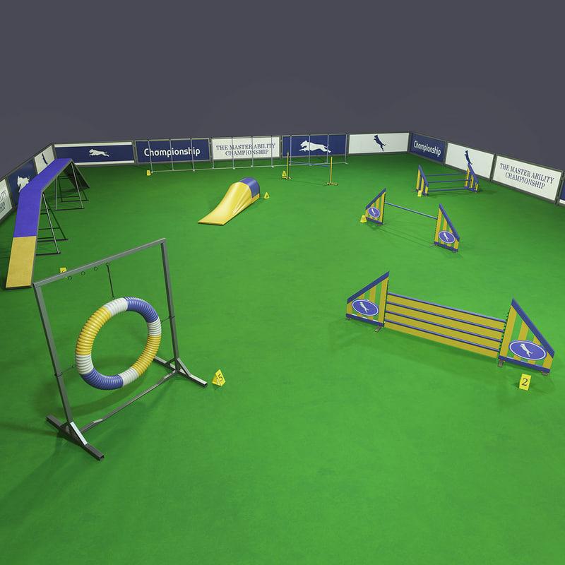 dog agility equipment 3D model