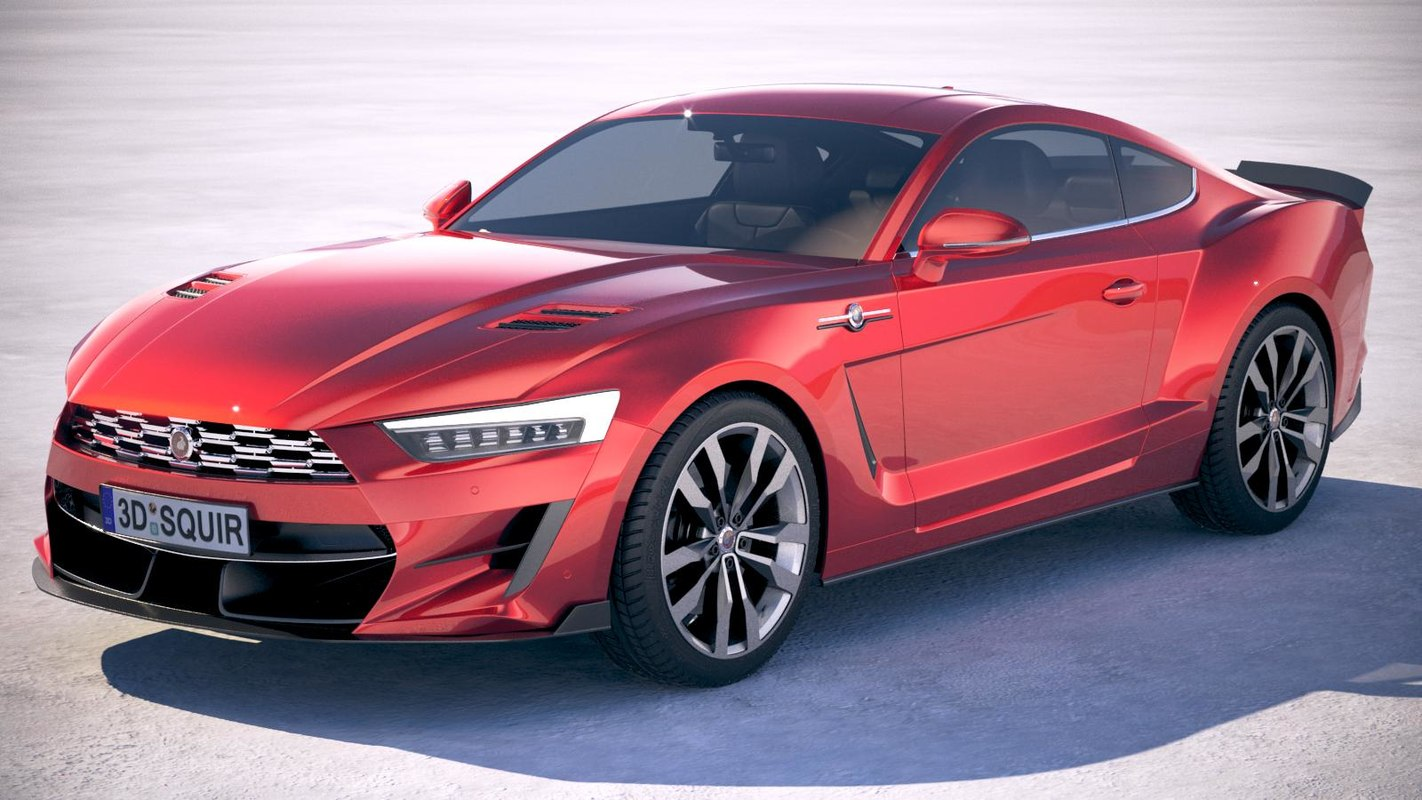 generic muscle car 3D