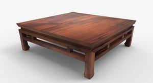 asian table 3D model