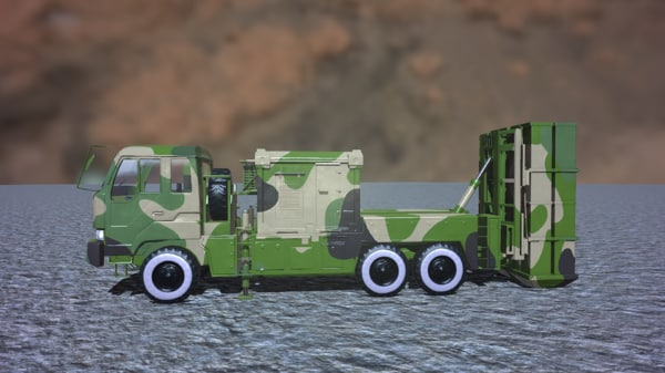 3D army modern air defense model