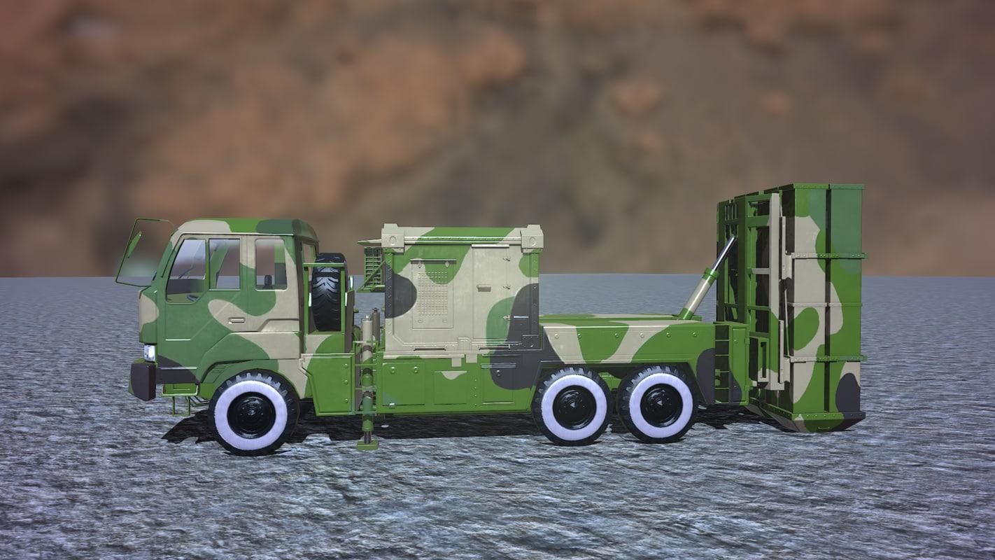 3D army modern air defense model