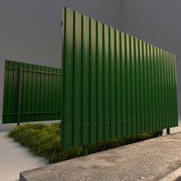 fence profiled sheeting 3D model