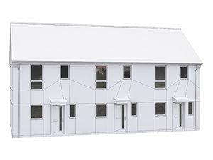 3D house scenes model