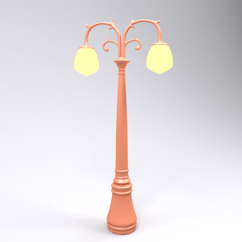 toon street lamp model