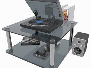 3D music center model