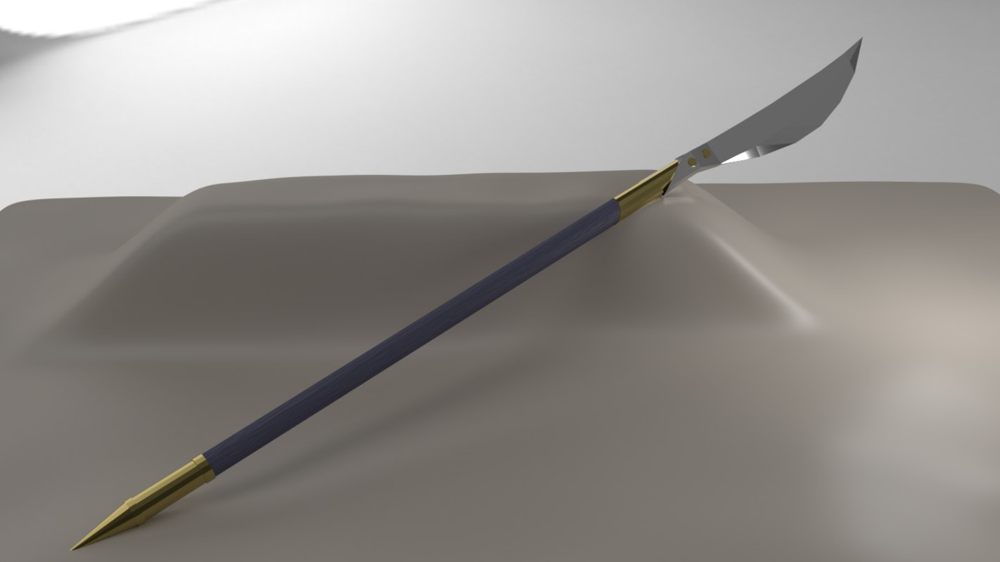 glaive weapon rpg model