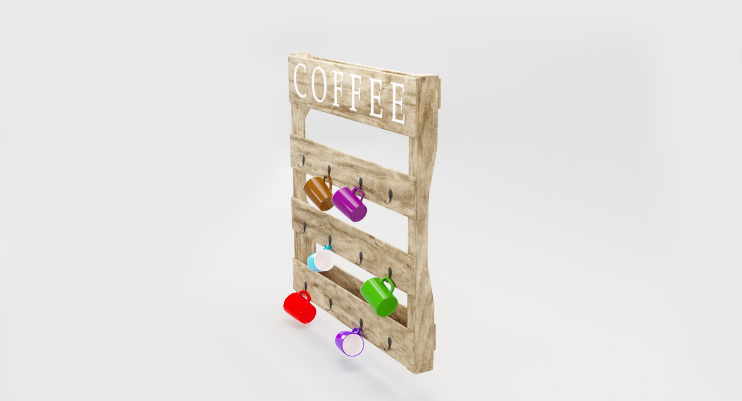 3D wooden cup holder