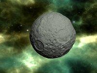 3D planet moon model
