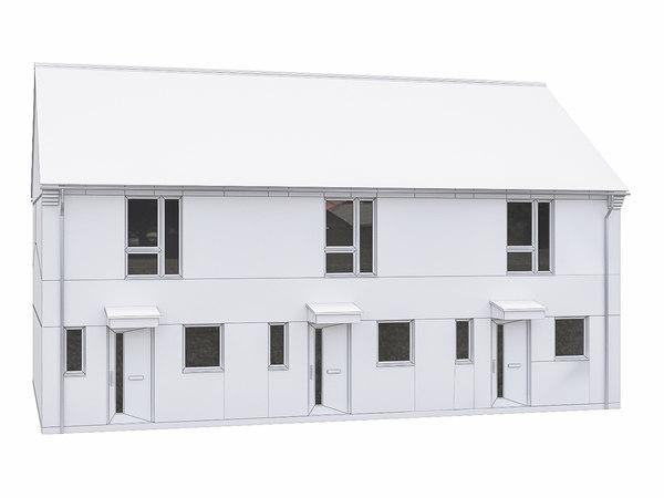 3D model house scenes