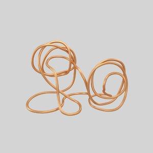 3D copper wire sculpture