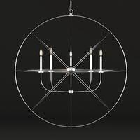 arn chandelier 3D model