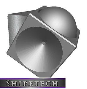 3D art cube 02 model
