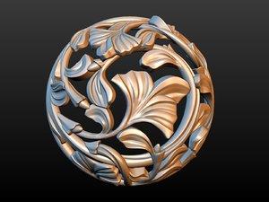 earrings gold 3D