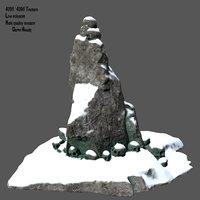 3D model skull mountain