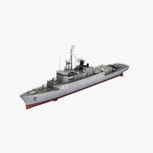 meko 140 corvette 3D model