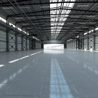 hangar world scene 3D