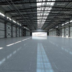 hangar world scene 3D