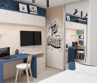 3D kids room navy
