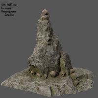 skull mountain model