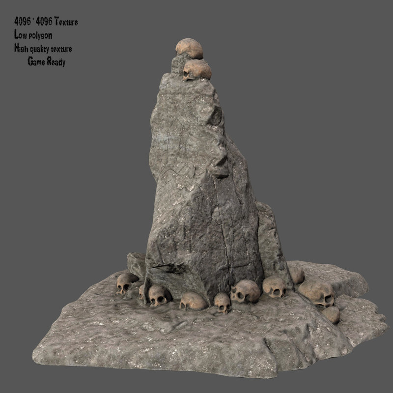 3D skull mountain