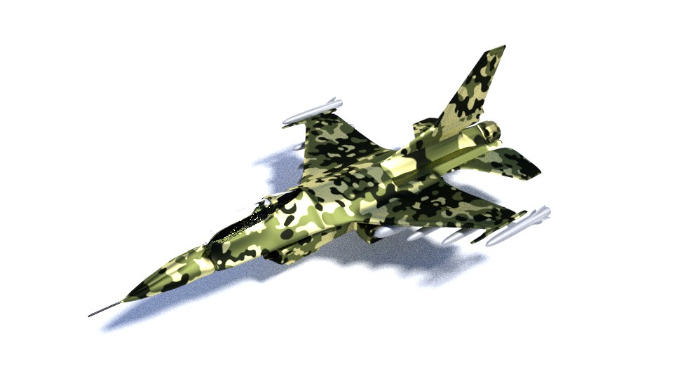 f-16 2 included 360 environment 3D