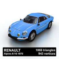 3D 1970 renault alpine a110