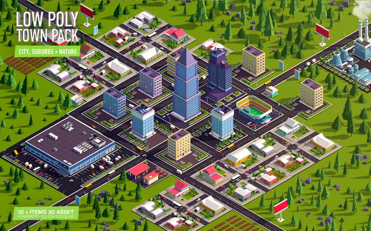 town city model