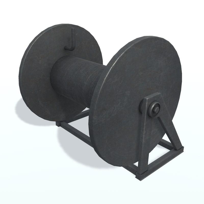 hawser reel 3D model