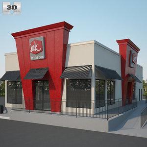 jack box restaurant 3D