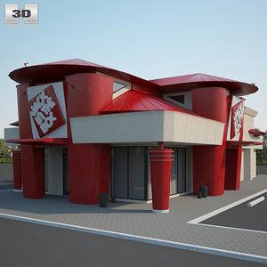 3D jack box restaurant model