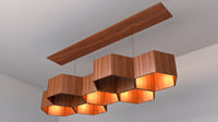 Original chandelier shaped bee honeycombs from larch