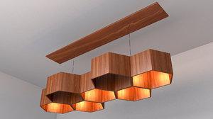 original chandelier honeycombs 3D model