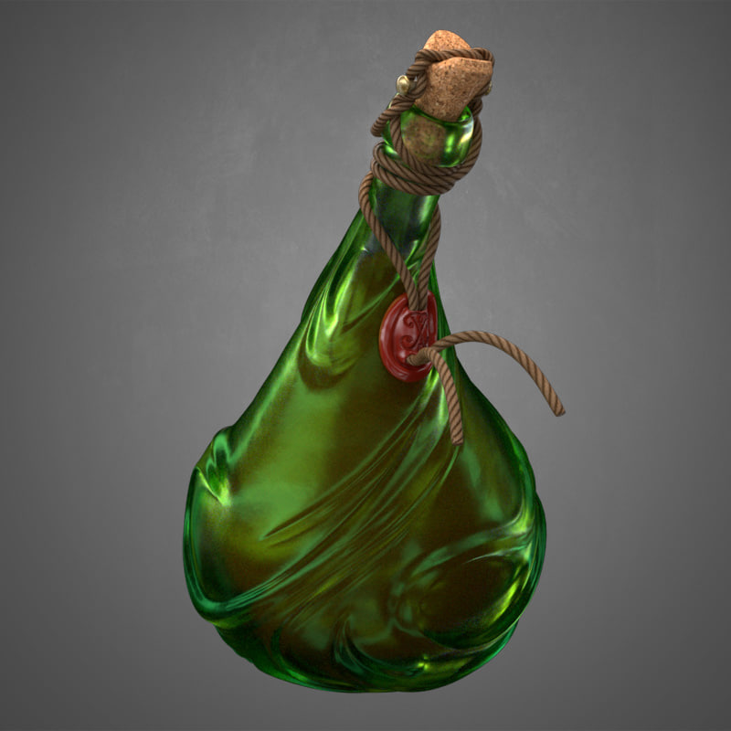 realistic magic bottle 3D