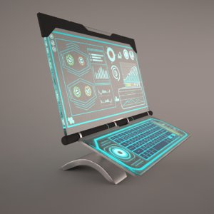 3D sci-fi computer model